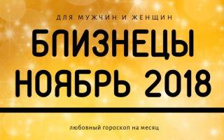 Гороскоп: Близнецы на ноябрь 2018 года (женщина, мужчина)