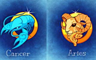 Совместимость знаков Зодиака: Овен и Рак — женщина и мужчина в отношениях и в браке