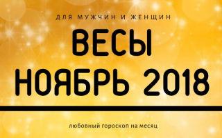 Любовный гороскоп для Весов на ноябрь 2018 года для женщин и мужчин