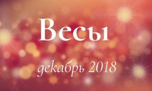 Любовный гороскоп: Весы на декабрь 2018 года (мужчина, женщина)