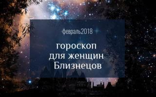 Гороскоп любви на февраль 2018 для женщины Близнецов