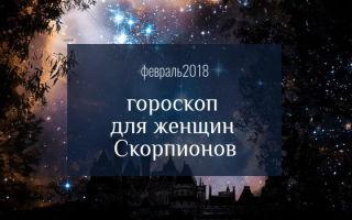 Любовный гороскоп на февраль 2018: Скорпион женщина