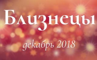 Любовный гороскоп на декабрь 2018: Близнецы (мужчина, женщина)