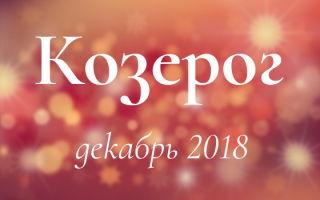 Гороскоп для Козерога на декабрь 2018 года для женщин и мужчин