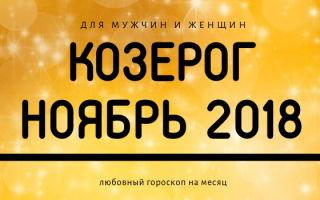 Гороскоп на ноябрь 2018: Козерог (мужчина и женщина)